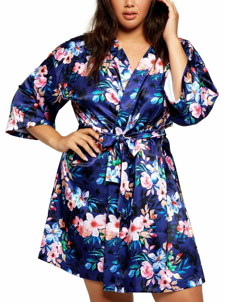 floral bridesmaid robe