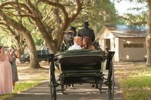 Vintage Horse-Drawn-Carriage Exit