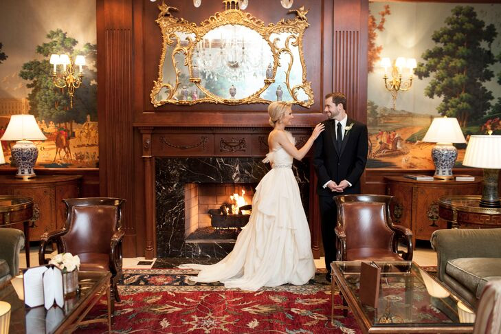 The Townsend Hotel's regal, old-world style gave Taylor and Josh's wedding a classic elegance.
