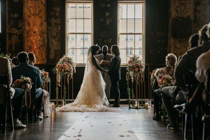 Wedding Ceremony at Turner Hall in Milwaukee, Wisconsin