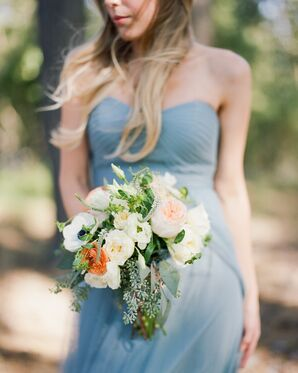 Slate Blue Bridesmaid Gowns