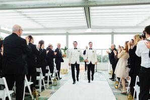 Modern Black-and-White Ceremony