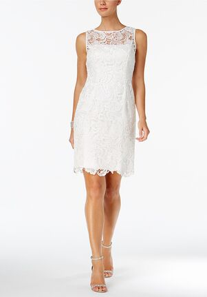 Adrianna Papell Wedding Dresses Adrianna Papell Illusion Lace Sheath Dress Sheath Wedding Dress
