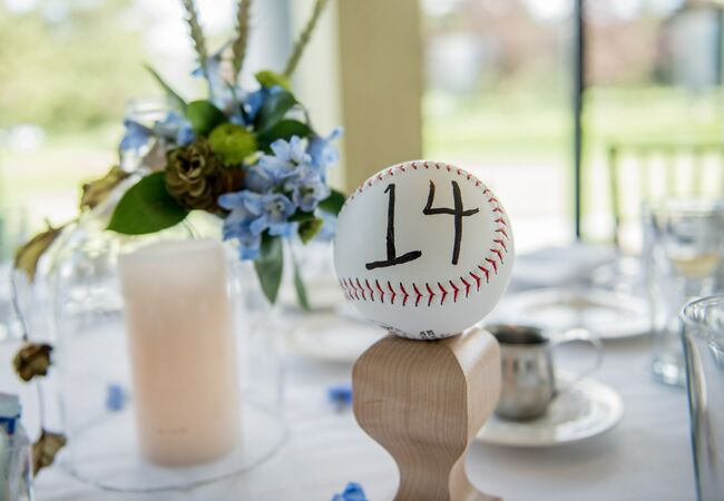 Baseball Table Numbers | Laure Lillie Photographie | Blog.theknot.com