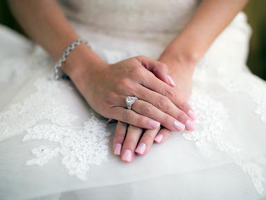 pink wedding manicure