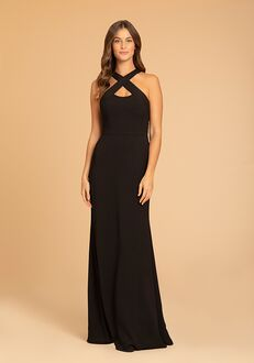 Hayley Paige Occasions 52014 Halter Bridesmaid Dress
