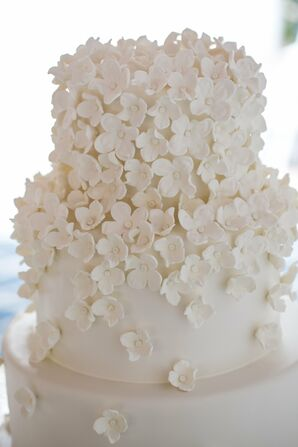 Glamorous, Ornate Blossom-Covered Wedding Cake