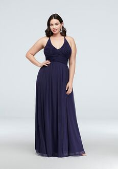 David's Bridal Collection David's Bridal Style 130240W Halter Bridesmaid Dress