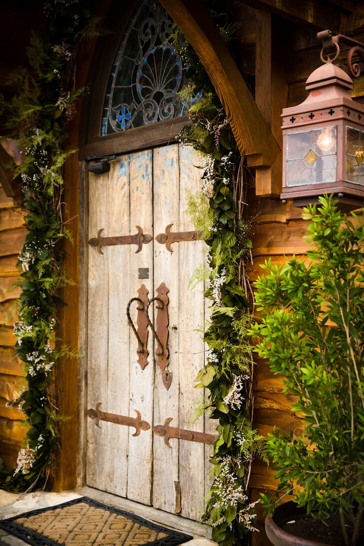 Rustic Wedding Ceremony Entrance