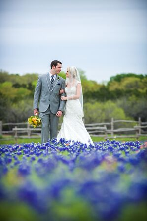 Rustic Wedding Couple Shot