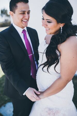 White and Fuchsia Seaside Wedding