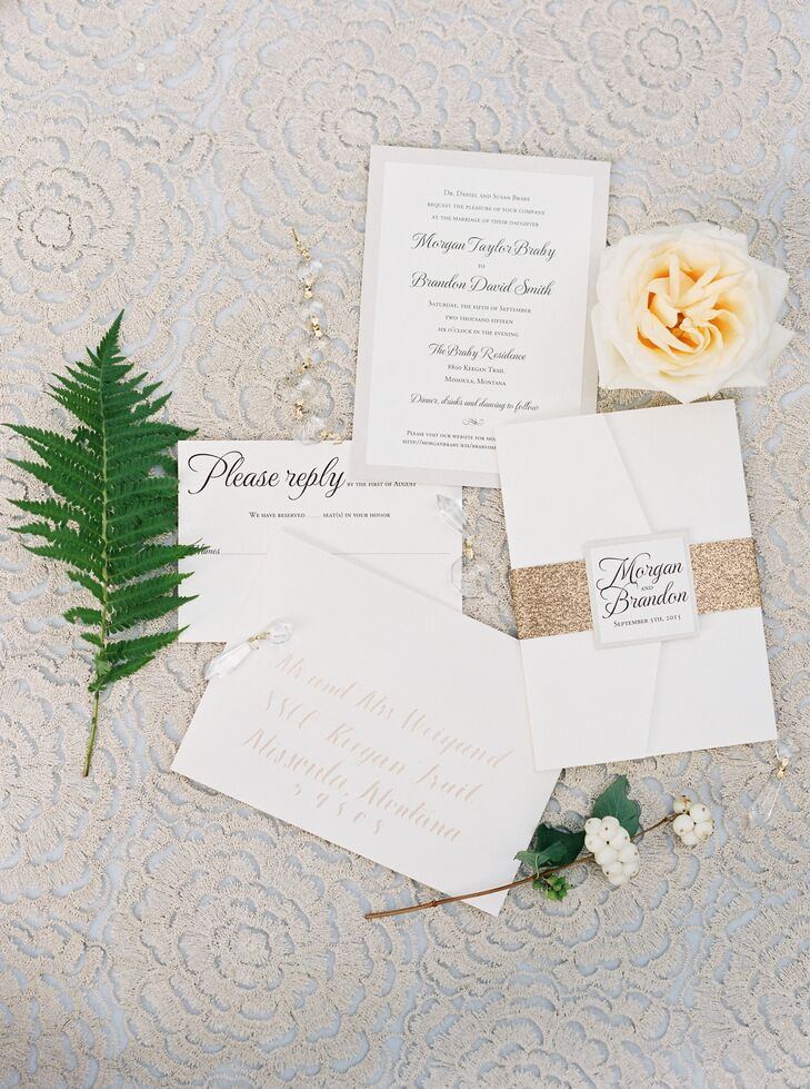 """Morgan described her style as """"modern flair with traditional class."""" Her goal? To combine the two. Wedding planner Darci Greenwood helped Morgan create her dream theme with a palette of cream, beige and green, tying those neutral hues into the season and the natural surroundings. """"She brought my ideas and my theme to life in a way I never could have,"""" Morgan says."""