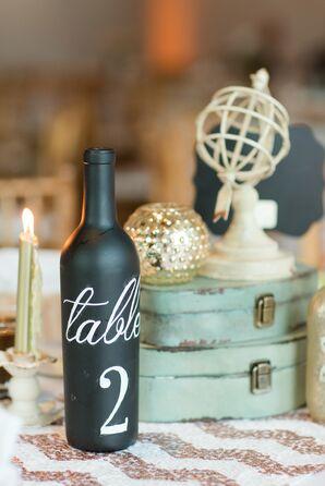 DIY Wine Bottle Table Numbers