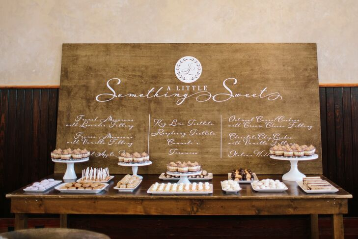 Dessert Table with Custom Wood Sign
