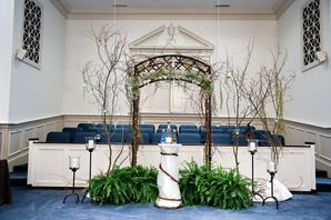 Rustic Winterville Free Will Baptist Church Ceremony