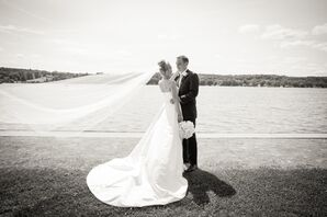 Cathedral-Length Wedding Veil in the Wind