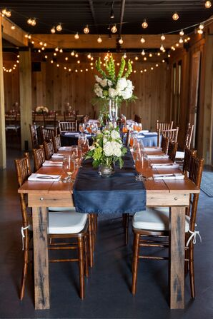 Elegant-Meets-Rustic Farm Reception Decor