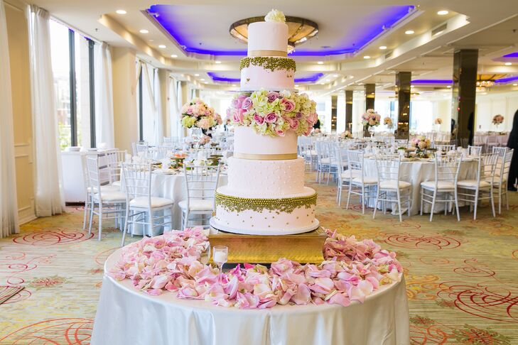 Flower Filled Five Tier Cake