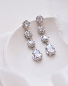 Dareth Colburn Adalia CZ Drop Earrings (JE-1551) Wedding Earring photo