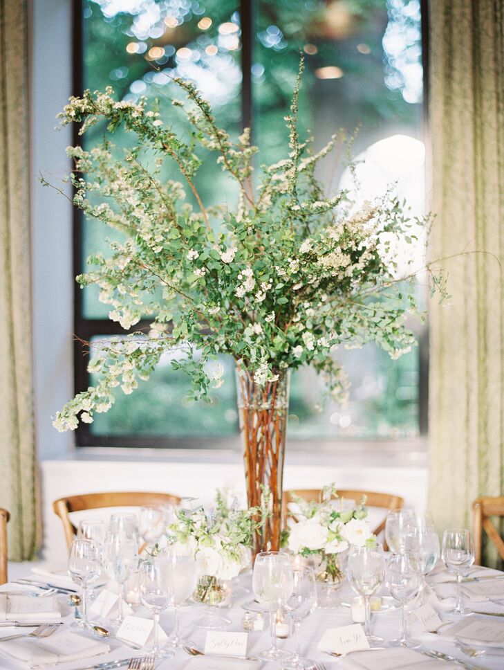 Tall White Wildflower Centerpiece
