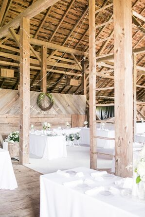 Modern Private Barn Reception