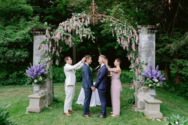 Greek Wedding Ceremony at Chesterwood Estate in Stockbridge, Massachusetts