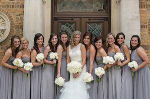 Heather Grey Donna Morgan Bridesmaid Dresses