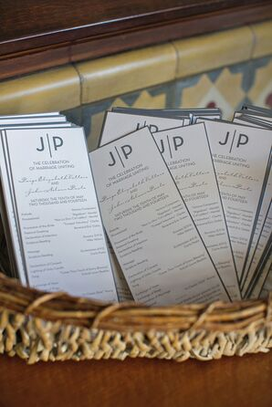 Modern Grey and White Ceremony Programs