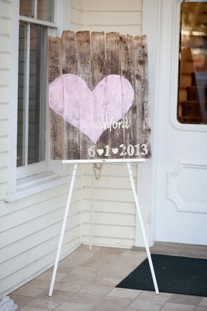 Rustic Custom Painted Wood Welcome Sign in Austin, Texas