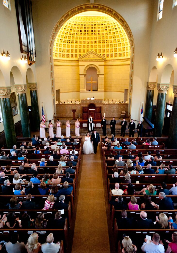 Central Christian Church offered an elegant and classic ceremony venue for Kate and Frank. They instantly clicked with the pastor, Peggy Edge, who officiated their ceremony.