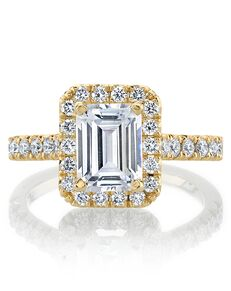 MARS Fine Jewelry Classic Emerald Cut Engagement Ring