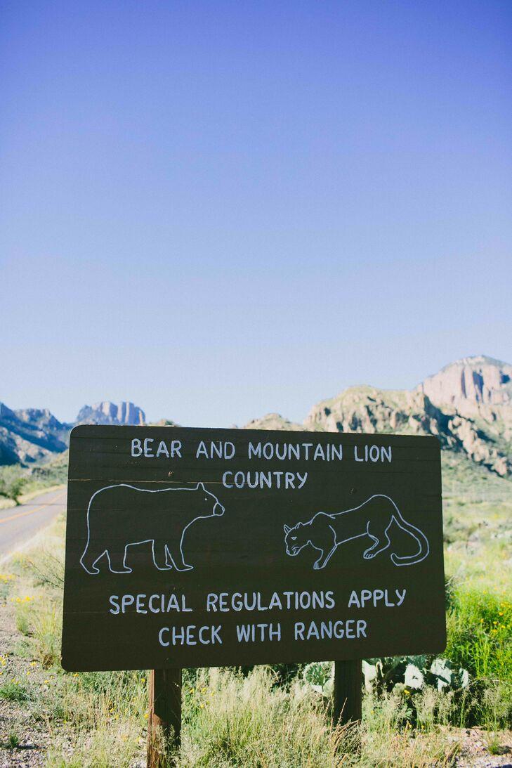 Big Bend National Park Wooden Sign
