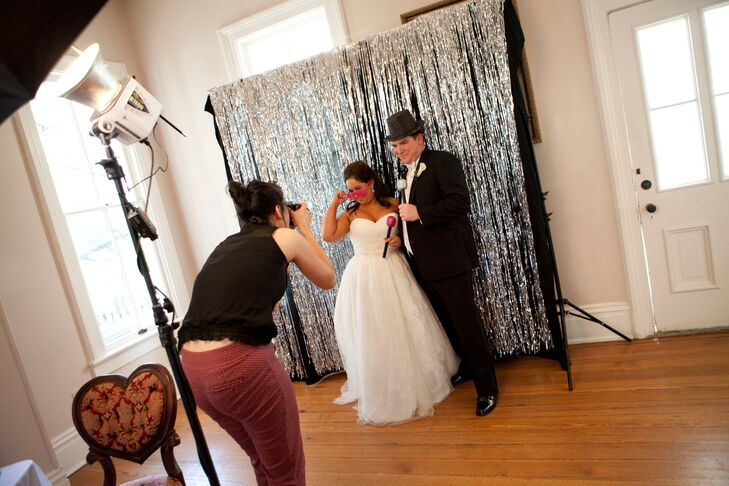 When Kate and Frank were planning the wedding, they tried to make sure their guests would have as much fun as possible. The Allan House featured a photo booth for guests (and the couple!) to take pictures and make memories.