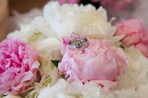 Princess Cut Engagement Ring with Diamond Band