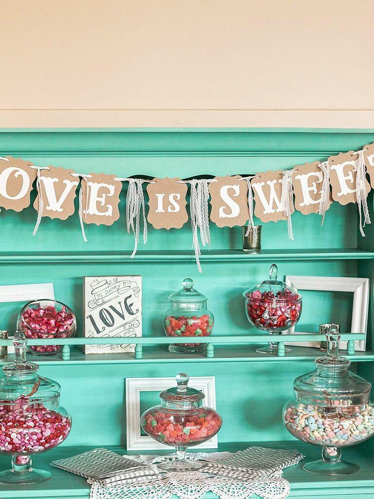 Sensational Wedding Candy Station Ideas And How To Make Your Own Home Interior And Landscaping Eliaenasavecom