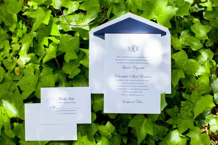 Understated Navy and White Stationery Suite