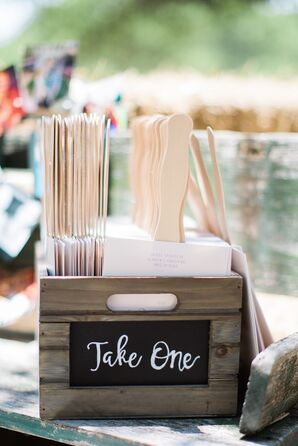Homemade Fans for Outdoor Wedding