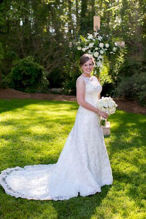 Custom-Designed Casablanca Bridal Lace Gown