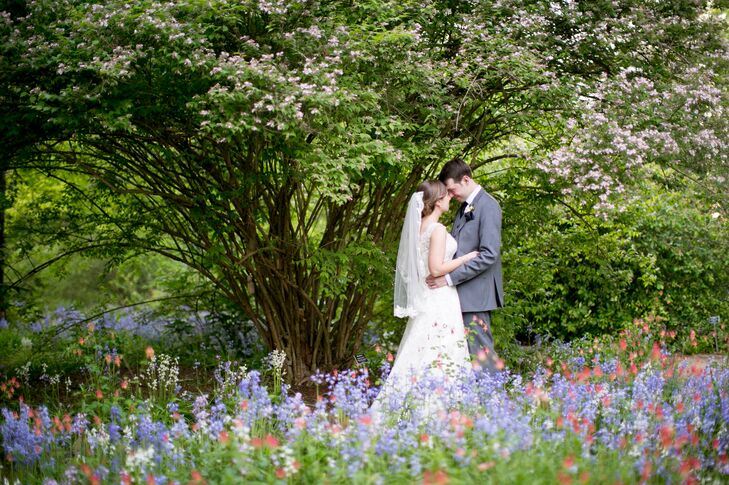 Backyard Wildflower Garden Wedding