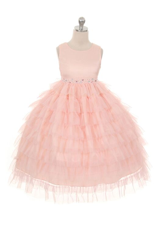 Kid's Dream 8050 Ivory,Pink,White Flower Girl Dress