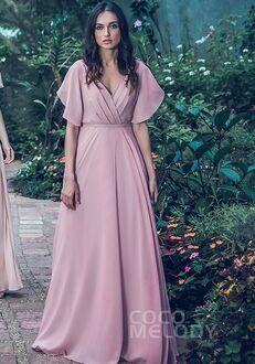 CocoMelody Bridesmaid Dresses PR3568 V-Neck Bridesmaid Dress