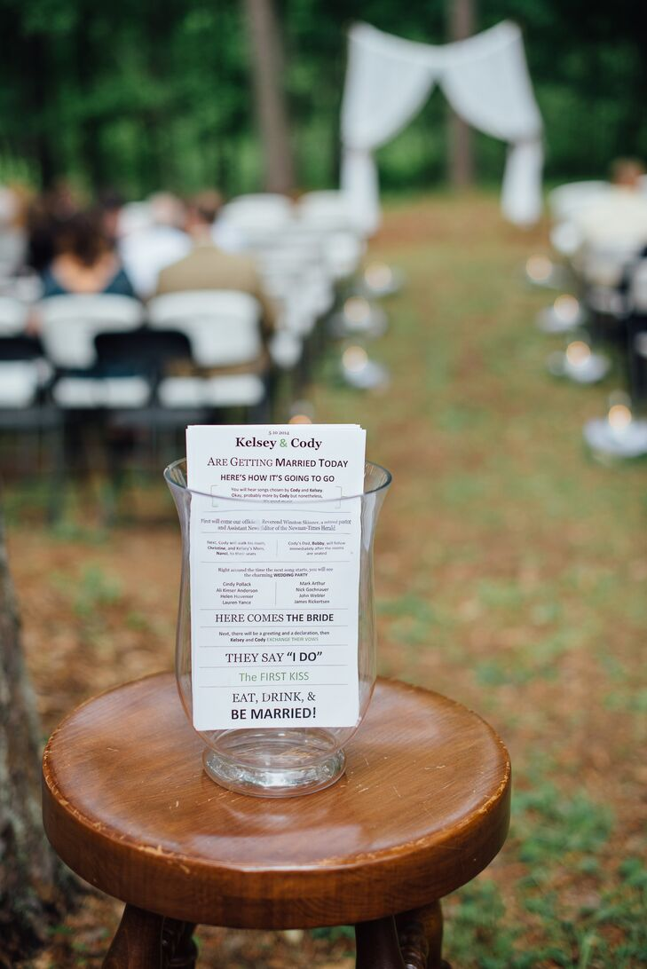 Programs at the Outdoor Ceremony