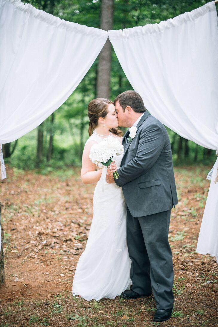 Newlyweds' First Kiss