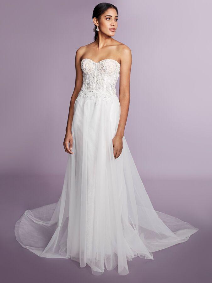 Marchesa Notte strapless A-line wedding dress