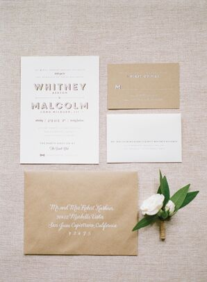 Neutral Formal Wedding Invitations