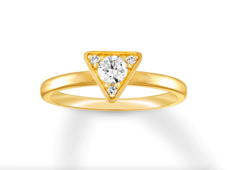 Kay diamond engagement ring in 14K yellow gold