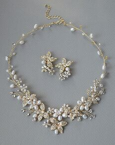 USABride Floral Garden Pearl Jewelry Set (JS-1670-G) Wedding Necklace photo