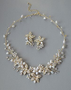 Dareth Colburn Floral Garden Pearl Jewelry Set (JS-1670-G) Wedding Necklace photo