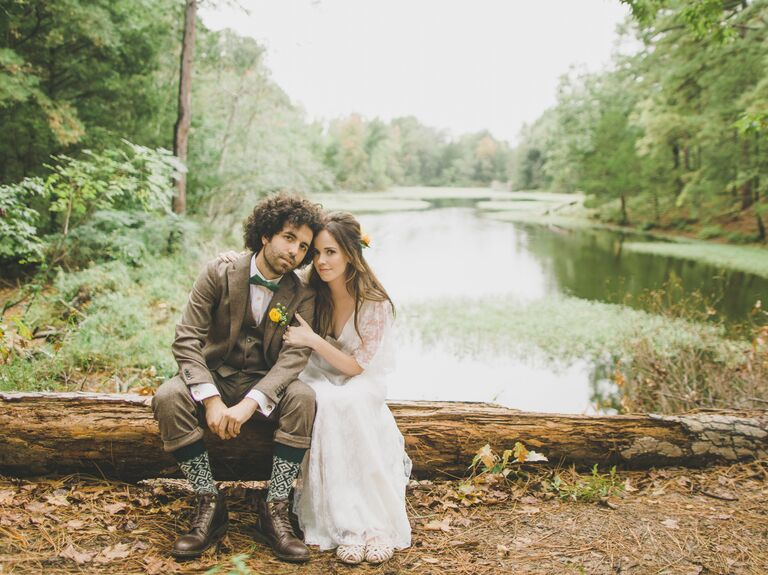 Kelly Musgraves and Canaan Sutton celebrate their wedding