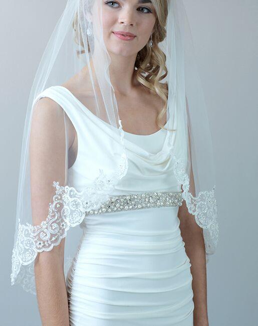 Dareth Colburn Claudia Lace & Beaded Bridal Veil (VB-5048) Ivory Veil